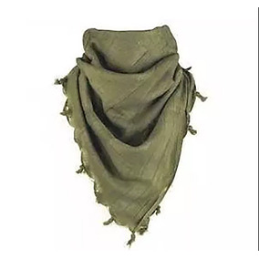 Shemagh Palestina Tactica Pashmina Árabe 1 Tono D Verde Liso