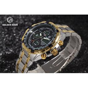 Reloj Hombre Goldenhour Militar, Digital Análogo, Acero 2019