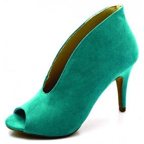 d6f02164d Salto Alto Fechado - Sapatos Azul-turquesa no Mercado Livre Brasil