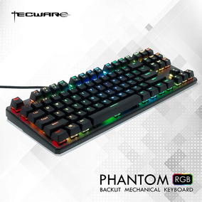 Teclado Mecanico Rgb Gamer Tecware Phantom Teclas Outemu Red