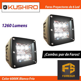 Faro Proyector De 6 Led 18watts Off Road Iluminacion X 2 Un