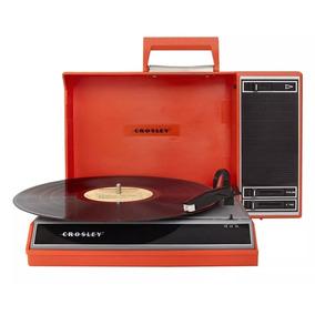 Vitrola Crosley Radio Cr6016 Spinnerette Laranja Toca Discos