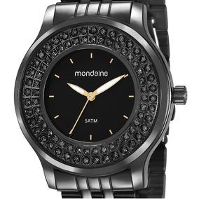 Relógio Mondaine Feminino Fashion Aço Preto 99266lpmvpe3
