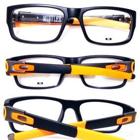 Armação Oculos De Grau Masculino Acetato Cor Marron - Óculos no ... 63536ab410