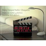 Reloj Decorativo De Mesa Alarma Con Forma De Claqueta