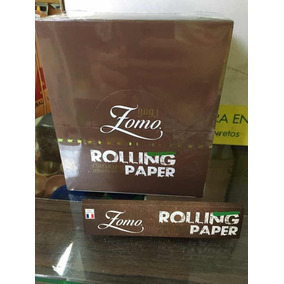 3 Caixa Seda Brown Smoking King Paper Brown Zomo C/50 Cada
