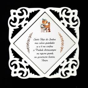 Quadrinho Oração Anjo Da Guarda 15x15 Cm Menina Escrivaninha