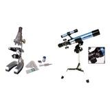 Combo Microscopio 450x Luz Incorporada + Telescopio Galileo