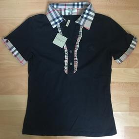 Playera Tipo Polo Para Dama Mujer Burberry Color Negro 4605a3238bca1