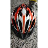 Capacete High One Laranja Ciclistas Bike Bicicleta Tamanho M