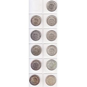 Suiza. Diez Monedas De 1/2 Franco. Plata 835. Distintos Años