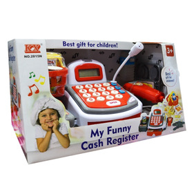 Caja Registradora Canasto Con Accesorios Sonido Microfono Ck