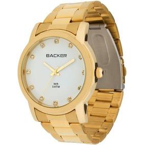 eb51dfca514 Relogio Backer Feminino Dourado - Relógios De Pulso no Mercado Livre ...