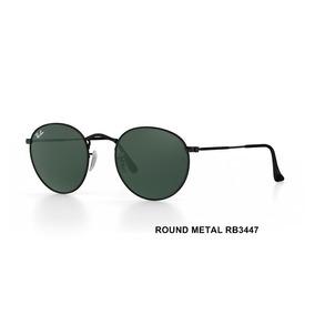 Óculos De Sol Ray-ban Round Metal Rb3447l 50-21 G-15 Preto bfddfa0952