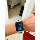 Iwatch 3 Nike Com Gps 38mm Semi-novo Com 1 Ano De Uso