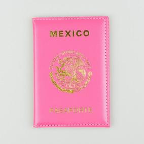 Funda Cubierta Porta Pasaporte Acolchada Mexico Con Escudo