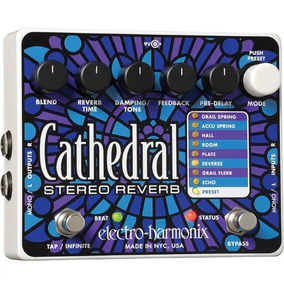 Pedal Electro Harmonix Ehx Cathedral Stereo Reverb Nyc Usa