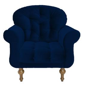 Poltrona Cadeira Dani Escritório Sala De Espera Azul Marinho