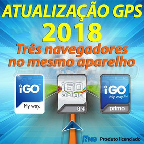 Atualização Gps Igo 8, Igo Amigo E Igo Primo 1.2 2018 Q2