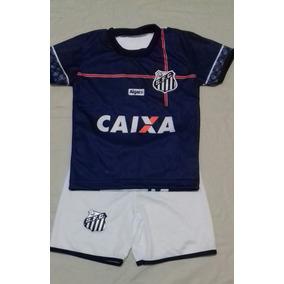 Conjunto Santos Infantil +meião28 33-camiseta short Novidade e78e1b6966a1e