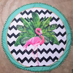 Canga Redonda, Saída De Praia, Flamingo Chevron, Moda Praia