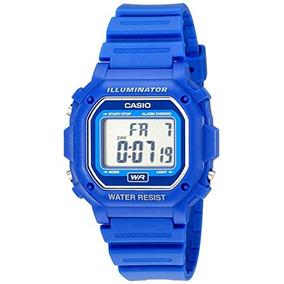 Reloj Casio Estandar F 108wh Azul Iluminator Alarma Wr Omm - Reloj ... 07348e7870f1