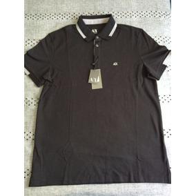 ca79096eb5f Playera Polo Armani Exchange Ax Talla L Color Negra