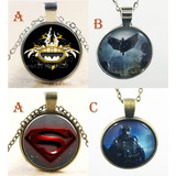 Collar Vintage Dc Comics Batman Superman Flash Linterna