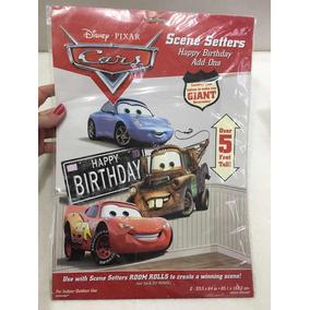 Poster Cenário Do Filme Carros Da Disney