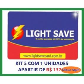 Economizador De Energia Light Save Card Kit 5 Com 1 Unid