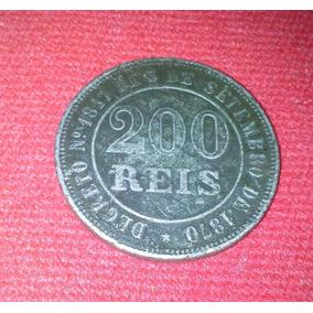 Moeda Antiga 200 Reis Ano 1871 Do Brasil