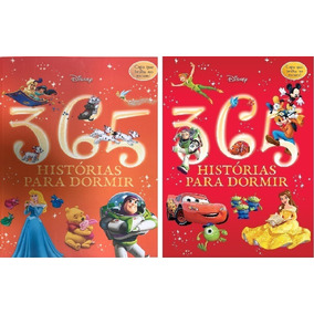 Kit Com 2 Livros 365 Historias Para Dormir Brilha No Escuro