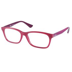 Oculos Sem Grau Transparente Rayban - Óculos Rosa no Mercado Livre ... 773cdba35c