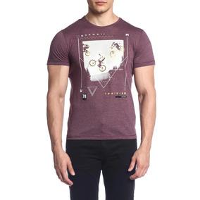 Camiseta Mormaii Estampada - Bordo