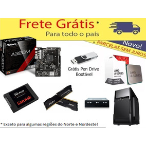 Kit Asrock Am4 + A10 9700 + 8gb Hyperx + Gab + Ssd 120 + Dvd