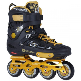 Patins Oxer Freestyle - In Line Slalom - Abec 9 - Amarelo
