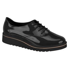 Sapato Tênis Feminino Oxford Preto Brilh Beira Rio # Clique+