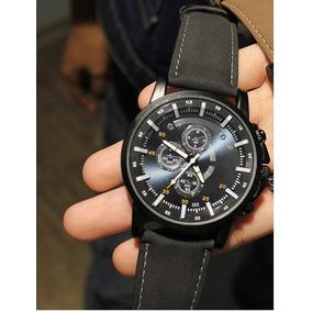 8a2704f0e31 Relógio Yazole Japonês Importado Em Couro Masculino - Relógios no ...