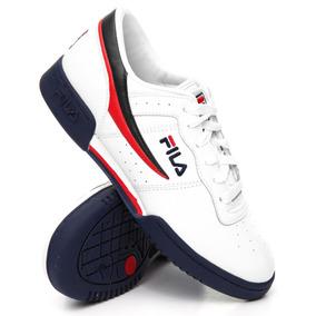 Tenis Fila Original Fitness Blanco Piel Retro