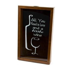 Quadro Porta Rolha De Vinho De Madeira Naturals All You Need