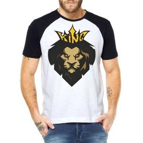 Camisetas Rei Leão Camisas Kings Lion Blusas Animais Atacado b1565a94d06