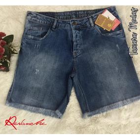 Shorts Jeans Revanche Original Meia Coxa C/ Lycra Tam 46
