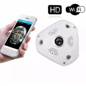 Câmera Panorâmica Segurança 3d Vr Cam Hd 1.3mp Wifi 360