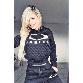 Conjunto Moletom Feminino Oakley Moleton Casaco Calça Kit 3 aa7947d597b