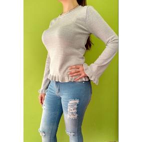 Sweaters Mujer Con Volados - Ropa y Accesorios en Mercado Libre ... fd97b664c59c