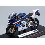Moto Colección Welly Suzuki Gsx-r750 1:18 / Schwarz Toyz
