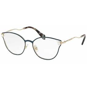 be652e0734e44 Lente Miu Miu Eyeglasses Mu 03mv Pc81o1 Light Tortoise Gold - Óculos ...