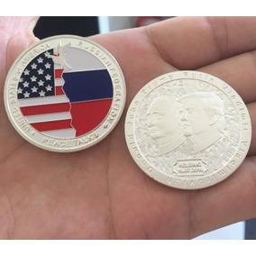Moeda Comemorativa Eua E Russia Encontro Pela Paz Prata