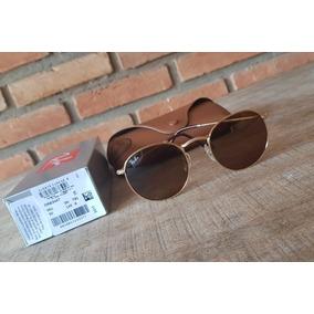 570152e3d1f0c Óculos Ray Ban 3447 Marrom Degradê De Sol Round Oculos - Óculos De ...