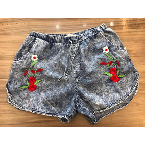 63917c09f Short Cintura Alta Com Stress - Shorts Jeans para Feminino no ...